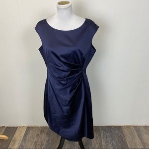 Ralph Lauren Navy Blue Side Ruched Dress